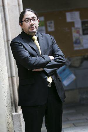 René Ramírez, en el patio de la sede central de la Universidad de Barcelona.