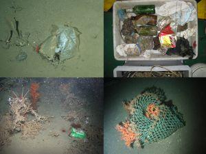 Un vertedero en el fondo del mar