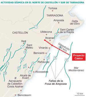 Los expertos confirman la relación entre los seísmos y el proyecto de gas Castor