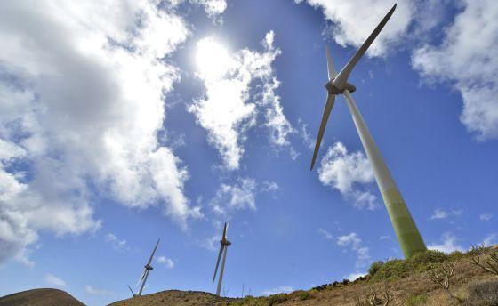 Imagen de la central hidroeólica de la isla de El Hierro.