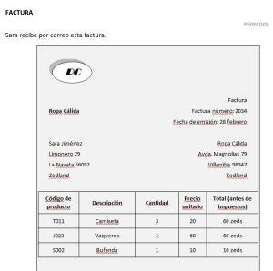 Pregunta del examen de la evaluación PISA sobre finanzas.
