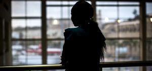 Mujer centroafricana en el puerto de Melilla