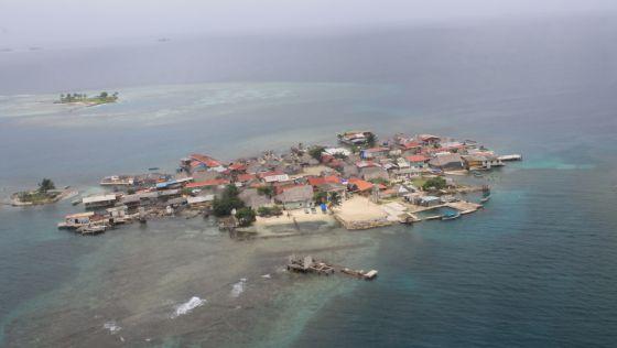 Islas panameñas en peligro de ser cubiertas por el mar.