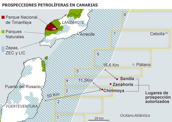 El Gobierno otorga el permiso definitivo para los sondeos petrolíferos en Canarias