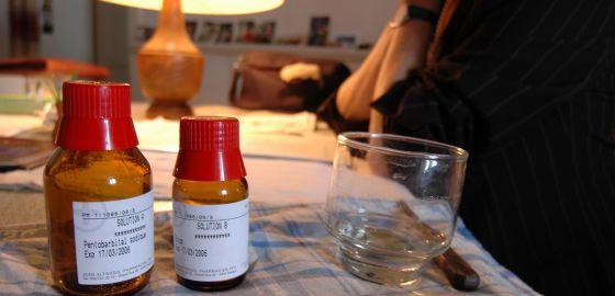 Fármacos para un suicidio asistido en una clínica de Zúrich (Suiza).