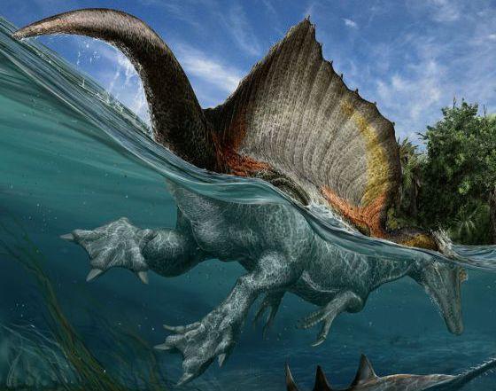 El primer dinosaurio nadador