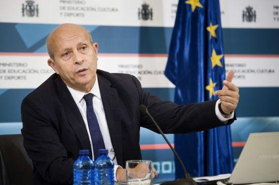 José Ignacio Wert, durante la presentación del informe.