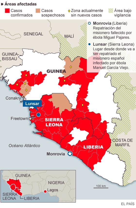 El Gobierno repatria a un español diagnosticado de ébola en Sierra Leona