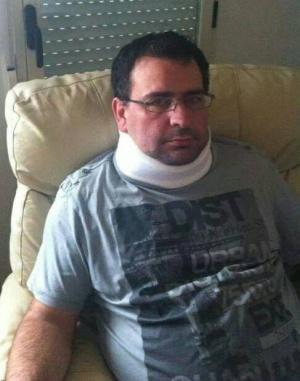 Adolfo Infante, tras la agresión sufrida en octubre de 2013.