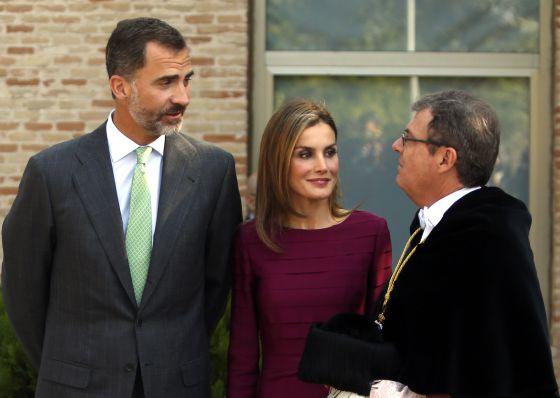 Los Reyes, durante la ceremonia académica de apertura del curso universitario en el campus tecnológico de Toledo.