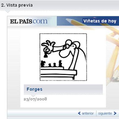 Imagen de uno de los widgets con las viñetas de ELPAÍS.com