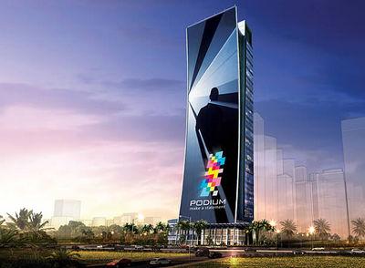 La pantalla led m s grande del mundo 39 medir 39 33 pisos for Edificio movil en dubai