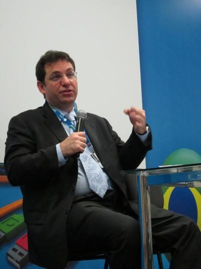 El 'hacker' pionero en la Campus Party Brasil.