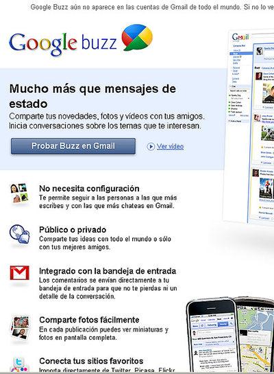 Google Buzz convierte Gmail en red social