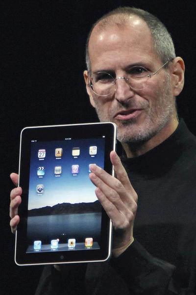 Steve Jobs, durante la presentación del iPad en San Francisco.