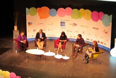 Debate sobre las redes sociales en el congreso de iRedes. Ícaro Moyano, Juan Andrés Muñoz, Laura Gómez, David Varona y Koro Castellano.