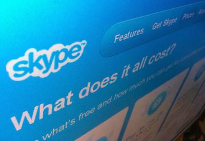 La página web de Skype.