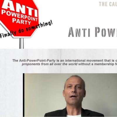 Página web del partido creado en Suiza contra el programa PowerPoint.