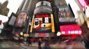 Anuncio callejero de Kodak en Nueva York.