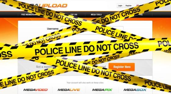 Imagen sobre el cierre de Megaupload que se ha difundido en la Red.