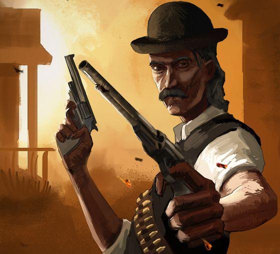 El protagonista de Red Gun, juego para iPhone codesarrollado por Vital de la Torre.