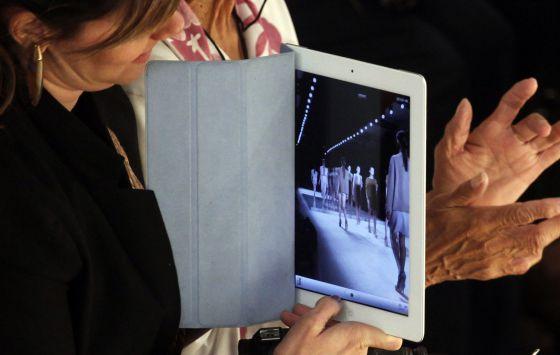La tableta iPad.