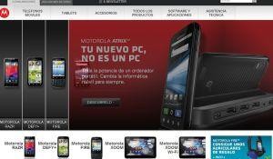Sitio español de Motorola en Internet.