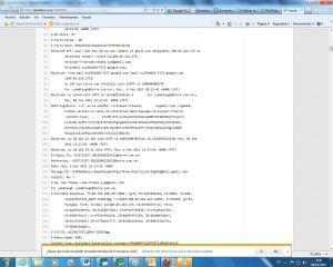 Intercambio de mensajes entre Symantec y el autor de la filtración.