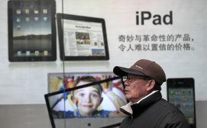 Anuncio de iPad en China.