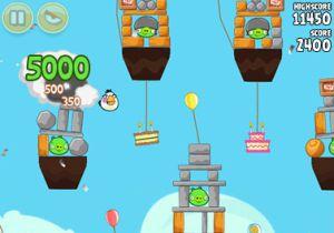 El juego 'Angry birds'.