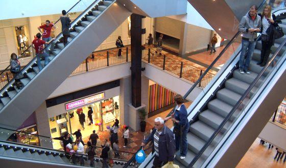 Centro comercial en A Coruña.