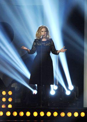 Adele, en los premios de la música británica.