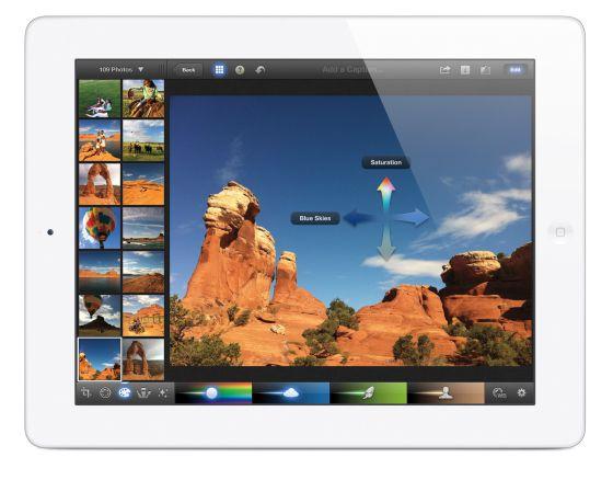 Una imagen del nuevo iPad.