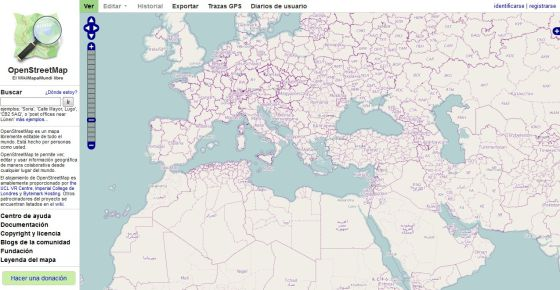 Imagen de los mapas OpenStreet