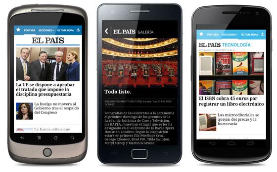 Aplicación de EL PAÍS en Android