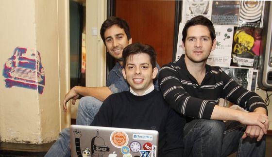 De izquierda a derecha, Javier Burón, Luis Pablo Pardo y Alfredo Artiles.