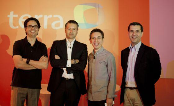 El equipo directivo de Terra en la presentación del portal para España.
