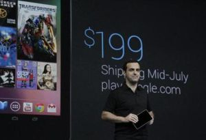 Hugo Barra presenta la tableta Nexus 7.