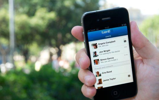 La red social Tuenti, en el móvil.