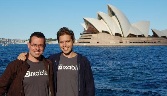 De izquierda a derecha, Alberto López, jefe de tecnología , e Iñaki Berenguer, fundador de Pixable.