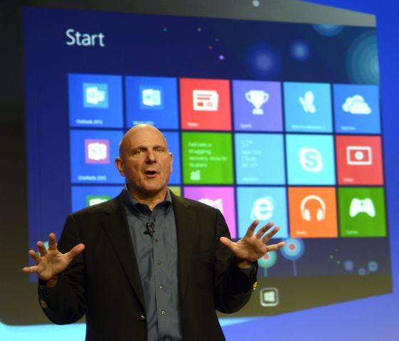 Steve Ballmer, durante la presentación de Windows 8.