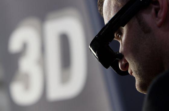 Gafas 3D en la feria del CeBIT de 2010.