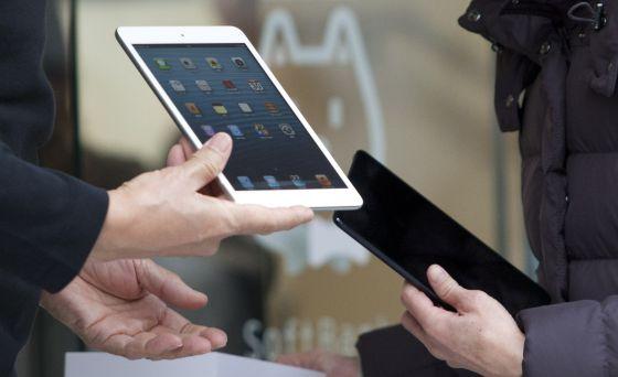 iPad Mini con iPad 4.