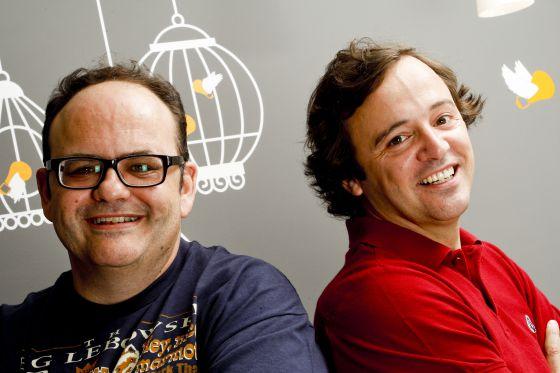 De izquierda a derecha, Gustavo Entrala y Carlos García-Hoz.