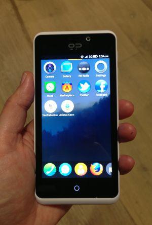 Geeksphone Peak con sistema operativo Firefox