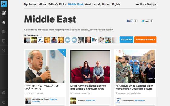 Un ejemplo de recortes con noticias sobre Oriente Medio.