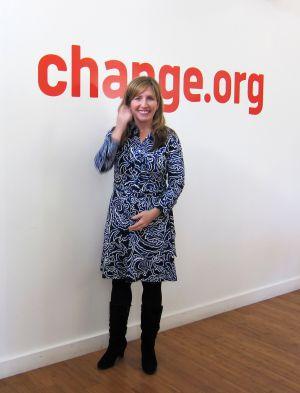 Jennifer Dulski en las oficinas Change.org en San Francisco.