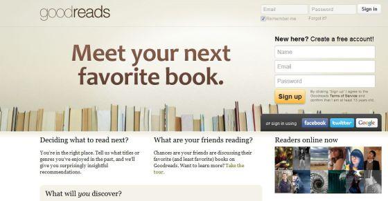 Portada de Goodreads, la última adquisición de Amazon.