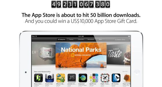 Apple se prepara para los 50.000 millones de descargas