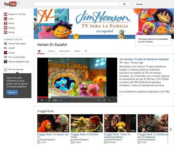 Canal de Jim Henson en español.